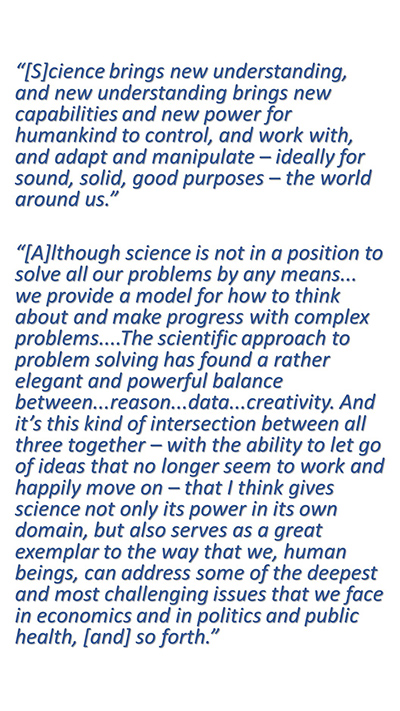 Paul Goldbart On Why Science Matters