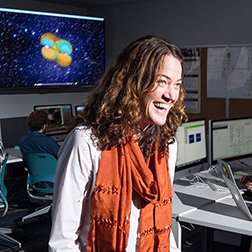 Deirdre Shoemaker, Director of the Center for Relativistic Astrophysics and professor in the School of Physics.