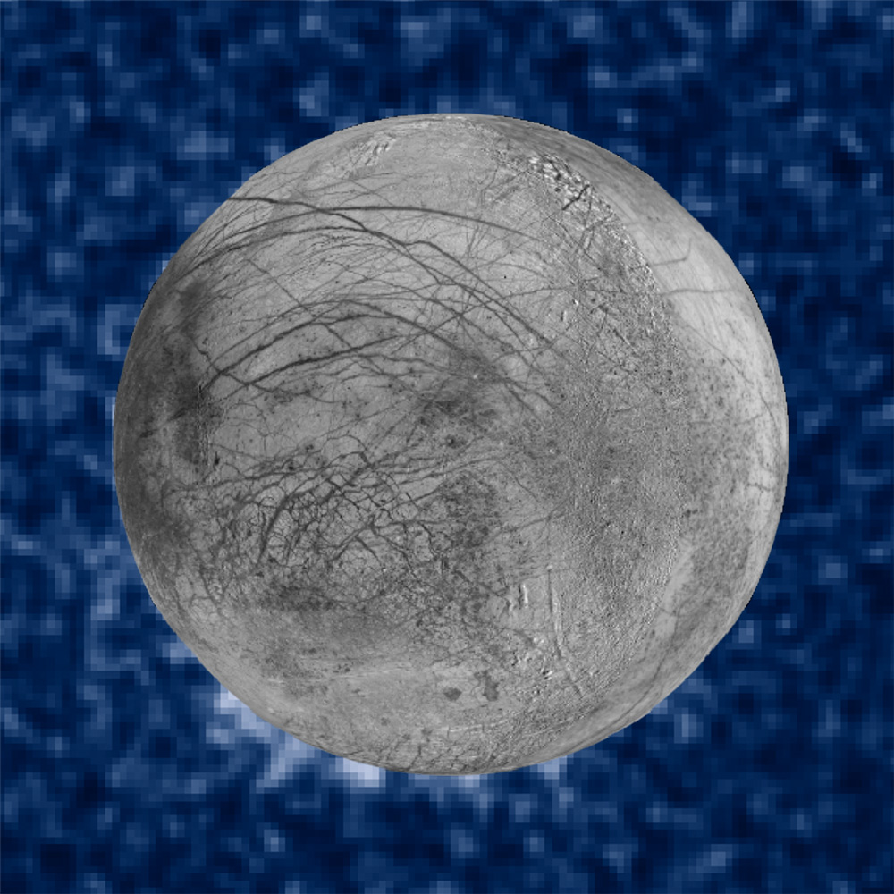 suspected plumes of water vapor erupting from the surface of Europa