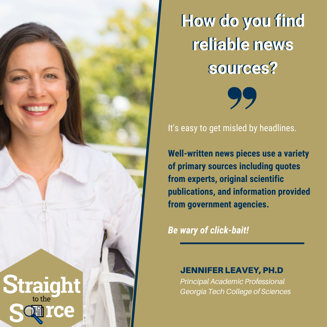 #StraightToTheSource talked with Jennifer Leavey to get advice on how to find accurate news articles
