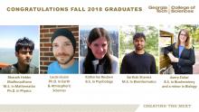 College of Sciences Fall 2018 Graduates