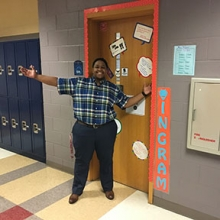 Rena Ingram ready for her students at Marietta High School (Photo courtesy of Rena Ingram)