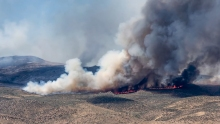 Smoke from human-caused wildfires on the Patagonian steppe are trapped in Antarctic ice. (Photo Kathy Kasic/Brett Kuxhausen, Montana State University)
