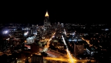 One group of students suggested reducing the lighting time of the iconic Bank of America Plaza in midtown Atlanta.